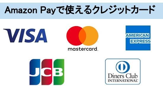 アマゾンペイで使えるカード